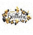 happy birthday typography design for vector image vector image