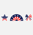 happy independence day ribbon bow star shape vector image vector image