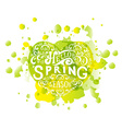 Hello Spring lettering typography vector image vector image