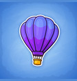 hot air balloon on sky background vector image vector image