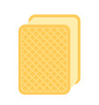 ice-cream waffle sandwich isolated vector image
