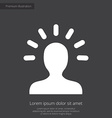 idea premium icon white on dark background vector image vector image