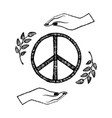 international peace day on vector image vector image