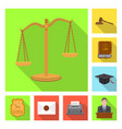 isolated object law and lawyer symbol set of vector image