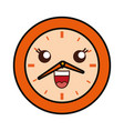 kawaii clock icon vector image