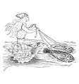 loreley in her chariot vintage vector image vector image