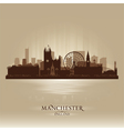 Manchester England skyline city silhouette vector image vector image