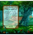 Mystical landscape with frame for text vector image vector image