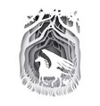 mythical pegasus in forest in vector image