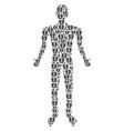 open box human figure vector image