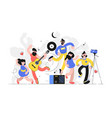 people fun to dance together vector image vector image