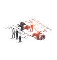 personal development job promotion leadership vector image