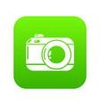photo camera icon simple black style vector image