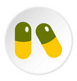 pills icon circle vector image vector image