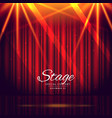 red stage background with closed curtains vector image