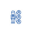 referralsaffilate marketing line icon concept vector image vector image