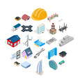 ride icons set isometric style vector image vector image