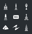 set of eurasian economic union and vector image