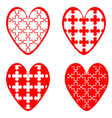 Set of heart icons for Valentines Day and wedding vector image vector image