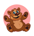 Smiling brown bear toy vector image vector image