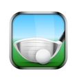 Square icon for golf app or games vector image vector image