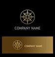 star compass gold logo vector image vector image