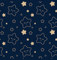 starry sky seamless children pattern vector image vector image