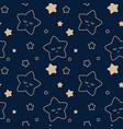 starry sky seamless children pattern vector image