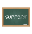 support chalkboard vector image vector image
