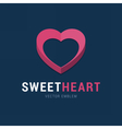 Sweet Heart emblem with 3d effect vector image vector image