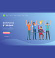 teamwork success creative idea startup vector image vector image