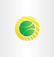 tennis ball symbol design vector image