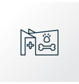 veterinary icon line symbol premium quality vector image