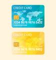credit card flat vector image