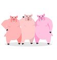 3 pigs Three piglets Funny farm animals Good vector image