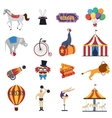 Circus Decorative Icons Set vector image