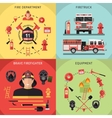 Firefighter Icon Set vector image
