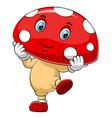 a cartoon cute mushrooms character vector image