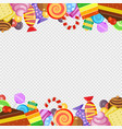 abstract frame with sweets colorful caramel and vector image vector image