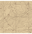 Abstract Retro Topography map Background vector image vector image