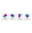 abstract shapes logo set business concept vector image vector image