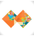 abstract square with colorful and creative vector image vector image