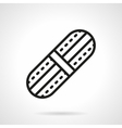 Adhesive plaster black line icon vector image