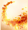 autumn background with golden leaves vector image vector image