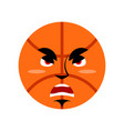 basketball angry emoji ball grumpy emotion vector image vector image