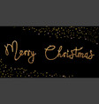 bright merry christmas brush lettering text gold vector image vector image