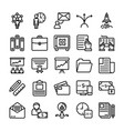 business and office line icons 12 vector image vector image
