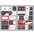Business card templates Stationery design vector image vector image
