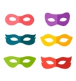 carnival mask set vector image