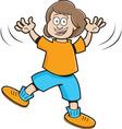 Cartoon Jumping Girl vector image vector image